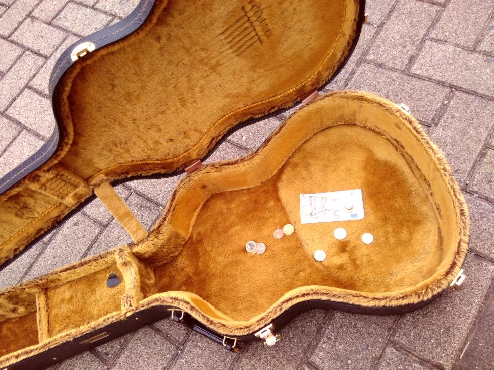 aufgeklappter Gitarrenkasten